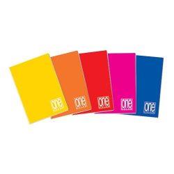 Füzet A/5  42lap kockás 80g One Color 1448, 1406
