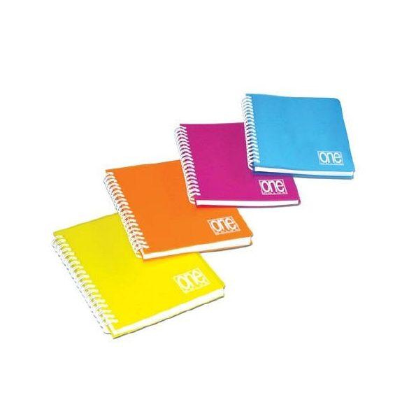 Spirálfüzet A/4 80lap 80g One Color PP borítóval 2935  kockás
