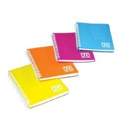 Spirálfüzet A/5 80lap 80g One Color PP borítóval 2938 kockás