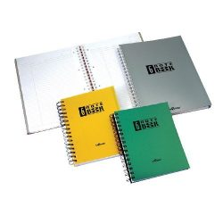Spirálfüzet A/5 6x25 lap kockás Notebook PP A15239027