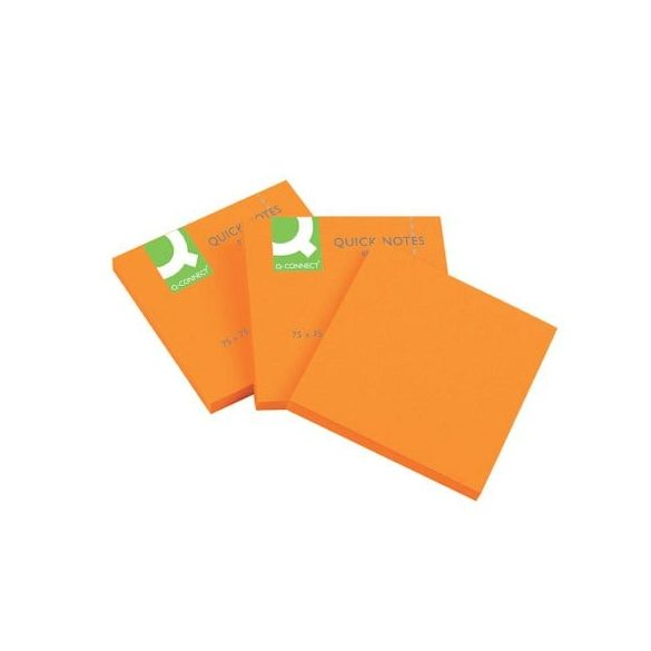 Öntap. jegyzettömb 76x76mm neon 6x80lap Q-Connect narancs
