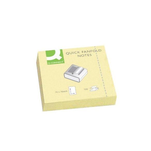 "Öntap. jegyzettömb 76x76mm ""Z"" standard sárga Q-Connect  KF02161"