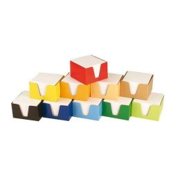 Kockatömb 9x9x6cm színes dobozos