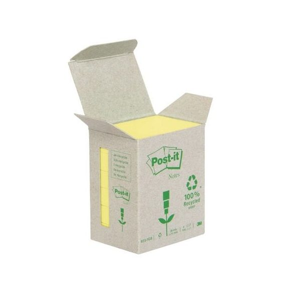 Post-it 653-1B 51x38mm 6x100lap/csm GreenLine sárga