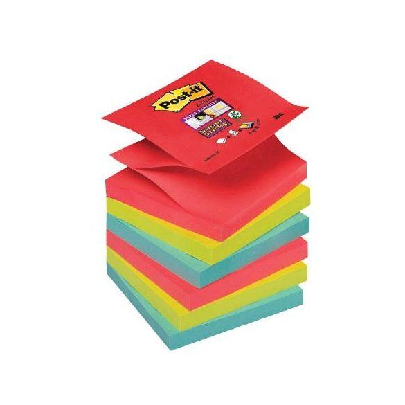 Post-it Super Sticky Z-szivárványcsomag76 × 76 mm,R330-6SS-JP 90 lap, 6 tömb