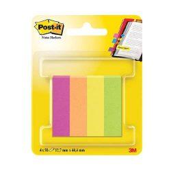 Post-it Jelölőlapok12,7 x 44,4mm, 4 x 50 lap (neon színek)670-4CA-EU