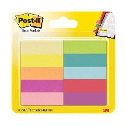 Post-it Jelölőlapok12,7 x 44,4mm, 10 x 50 lap (neon színek)670-10AB-EU