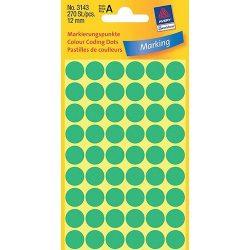 Etikett címke jelölőpont 12mm Avery