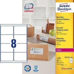 Etikett címke címzés újrahasznosított LR7165-100 QuickPEEL 99,1x67,7mm Avery