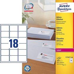 Etikett címke címzés L7161-100 C6 borítékra QuickPEEL 63,5x46,6mm Avery