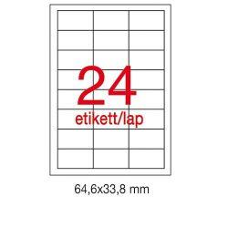 Etikett A1263 33,8x64,6mm 100ív LCA3131 Apli