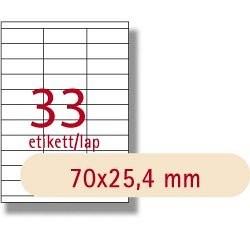 Etikett A1270 25,4x70mm 100ív LCA3132 Apli