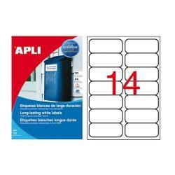 Etikett 99,1x38,1 mm 2p. vízálló 280db/csomag 20ív Apli