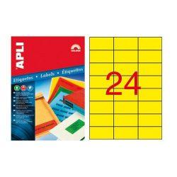 Etikett 70x37 20 íves Apli színes (Kék)