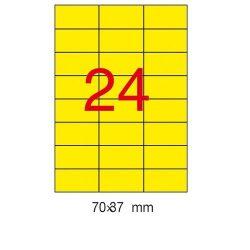 Etikett 70x37 20 íves Apli színes (Sárga)