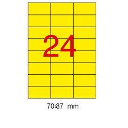 Etikett 210x297mm 20 ív Apli sárga