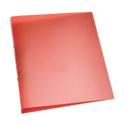 Gyűrűskönyv A/4 4gyűrűs 25mm áttetsző Q-Connect piros