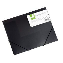 Iratgyűjtő gumis A/4 PP Q-Connect fekete