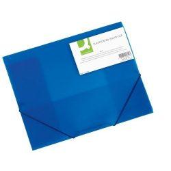 Iratgyűjtő gumis A/4 PP Q-Connect kék