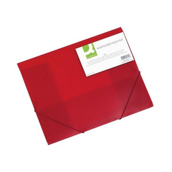 Iratgyűjtő gumis A/4 PP Q-Connect piros