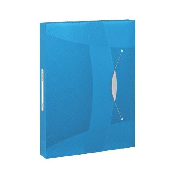 Iratgyűjtő gumis PP Intense 40mm 17748../Vivida6240.. kék