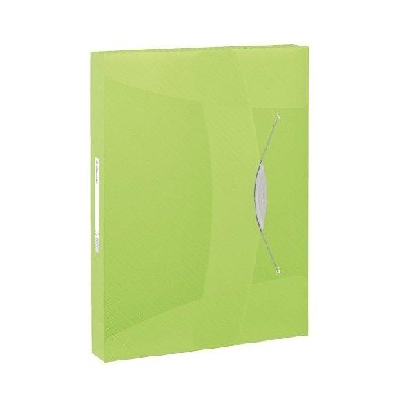 Iratgyűjtő gumis PP Intense 40mm 17748../Vivida6240.. zöld