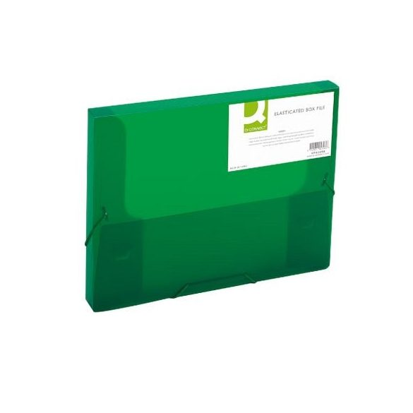Iratgyűjtő gumis A/4 PP Q-Connect 25mm zöld