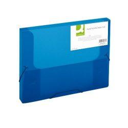 Iratgyűjtő gumis A/4 PP Q-Connect 25mm kék