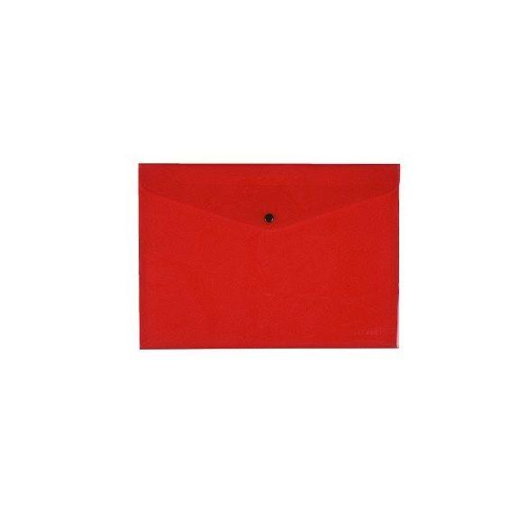 Iratgyűjtő tasak A/4 patentzáras Q-Connect 237x333mm piros
