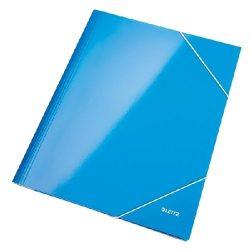 Iratgyűjtő gumis A/4 lakkfényű Leitz kék