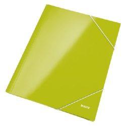 Iratgyűjtő gumis A/4 lakkfényű Leitz zöld