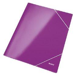 Iratgyűjtő gumis A/4 lakkfényű Leitz lila