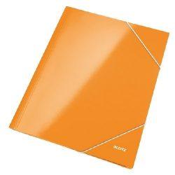Iratgyűjtő gumis A/4 lakkfényű Leitz narancssárga