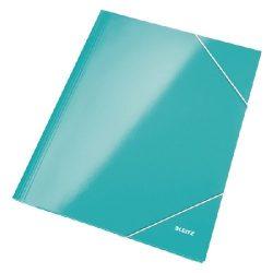 Iratgyűjtő gumis A/4 lakkfényű Leitz világoskék