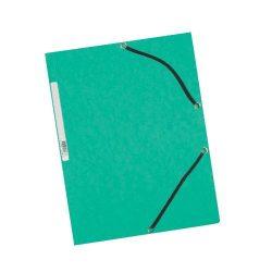 Iratgyűjtő gumis A/4 prespán Q-Connect zöld