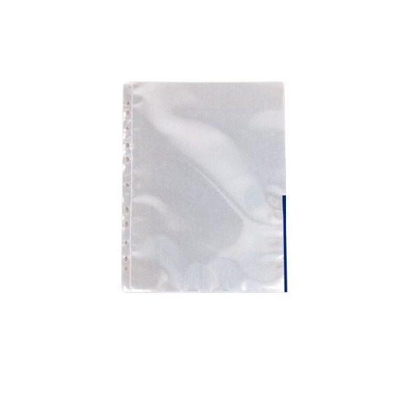 Genotherm A/4 lefűzhető színes szélű 105mikron kék