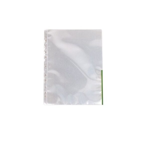 Genotherm A/4 lefűzhető színes szélű 105mikron zöld