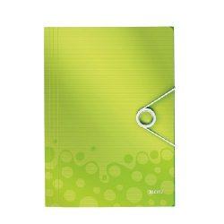 Iratgyűjtő A/4 gumis PP WOW zöld