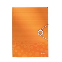 Iratgyűjtő A/4 gumis PP WOW narancssárga