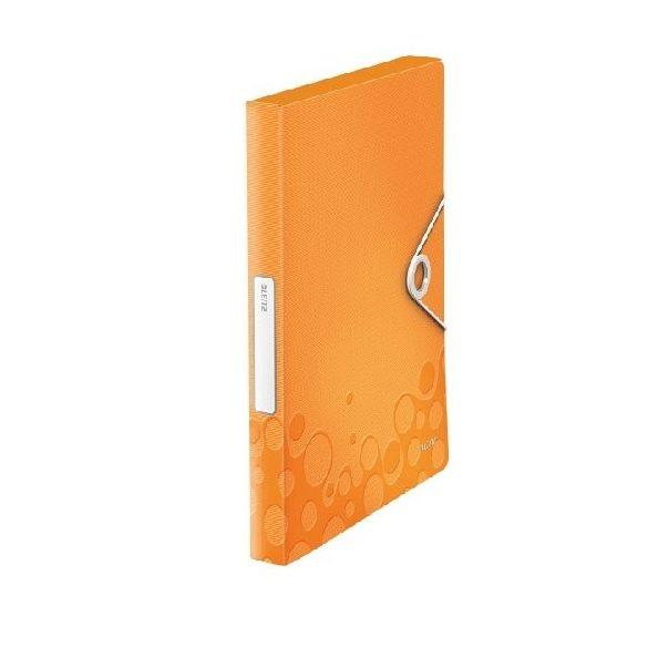 Iratgyűjtő A/4 gumis PP  WOW JUMBO narancssárga