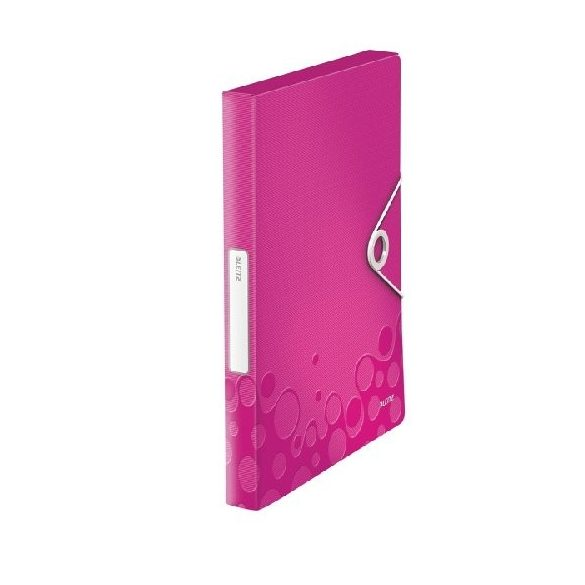 Iratgyűjtő A/4 gumis PP  WOW JUMBO rózsaszín