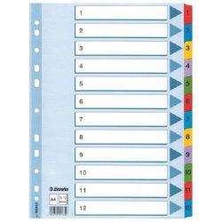 Regiszter A/4 karton 1-12 reg. Mylar 100162