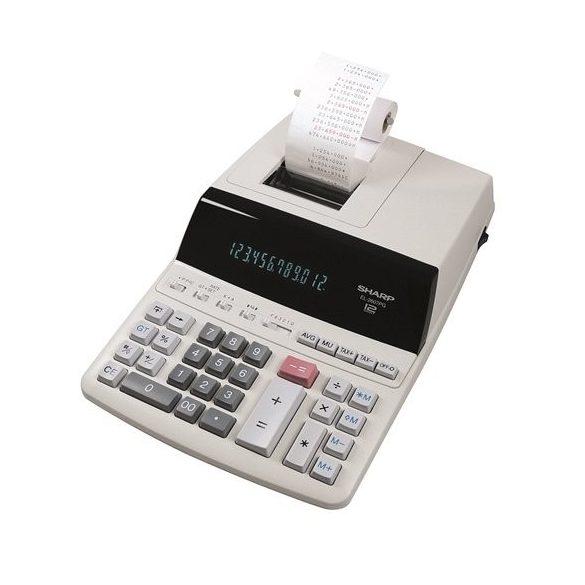 Számológép Sharp EL-2607PGGYSE szalagos