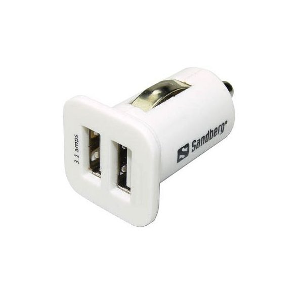 Autós töltőfej SANDBERG 2x USB, univerzális, 2100 mAh / 1000 mAh