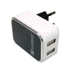 Hálózati töltőfej SANDBERG 2x USB, univerzális, 2400 mAh / 1000 mAh