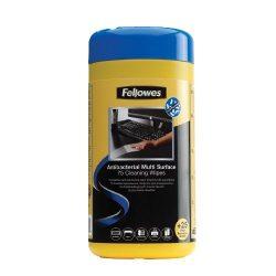 Tisztítókendő Fellowes, antibakteriális, felületekhez (100 db) IFW22109