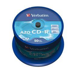 CD-R Verbatim 700MB 52x (Datalife) 50db/henger EXTRA 43351