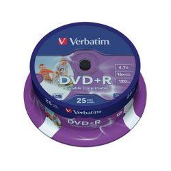 DVD+R Verbatim 4,7GB 16x nyomtatható 25db/henger 43539