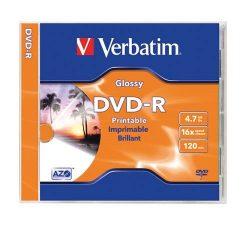 DVD-R Verbatim 4,7GB 16x nyomtatható 43521