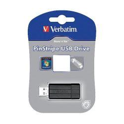 """USB drive Verbatim USB 2.0 32GB 10/4 MB/s """"PinStripe"""" 49064"""